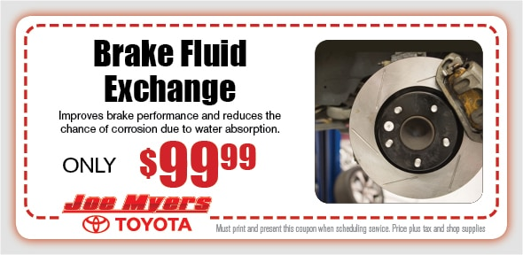 Brake Fluid Exchange Service Coupon, Houston, TX