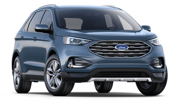 A blue 2019 Ford Edge SEL