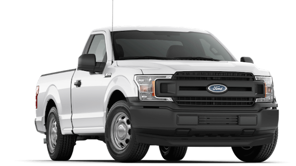 A white 2019 Ford F-150 XL