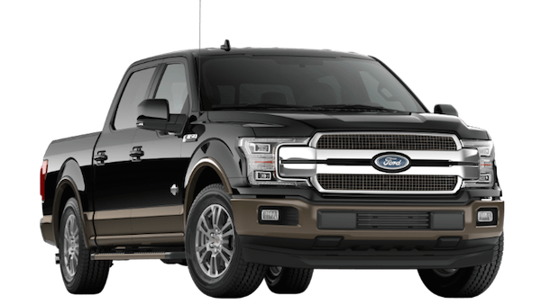 A black 2019 Ford F-150 King Ranch