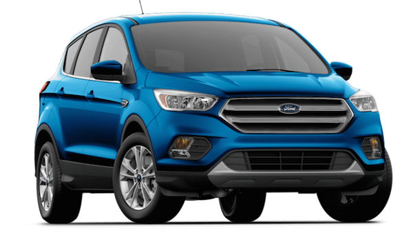 A blue 2019 Ford Escape SE