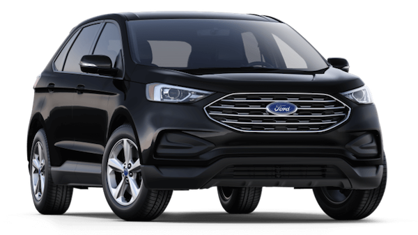 A black 2019 Ford Edge SE