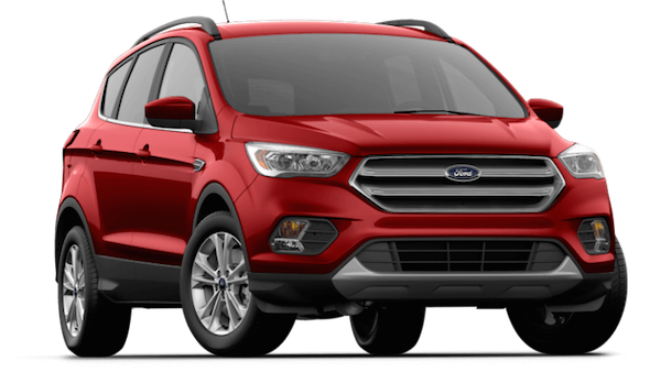 A red 2019 Ford Escape SEL