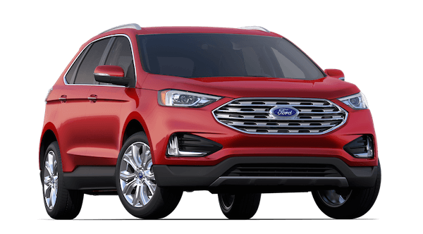 A red 2019 Ford Edge