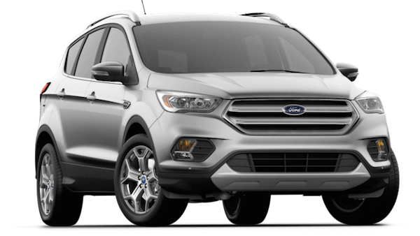 A silver 2019 Ford Escape Titanium