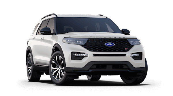 A white 2019 Ford Explorer