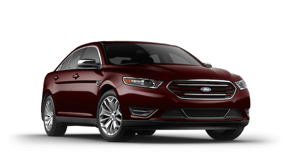 A burgandy 2019 Ford Taurus