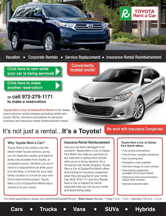 Toyota Rent A Car In Dallas Tx Sport City Toyota