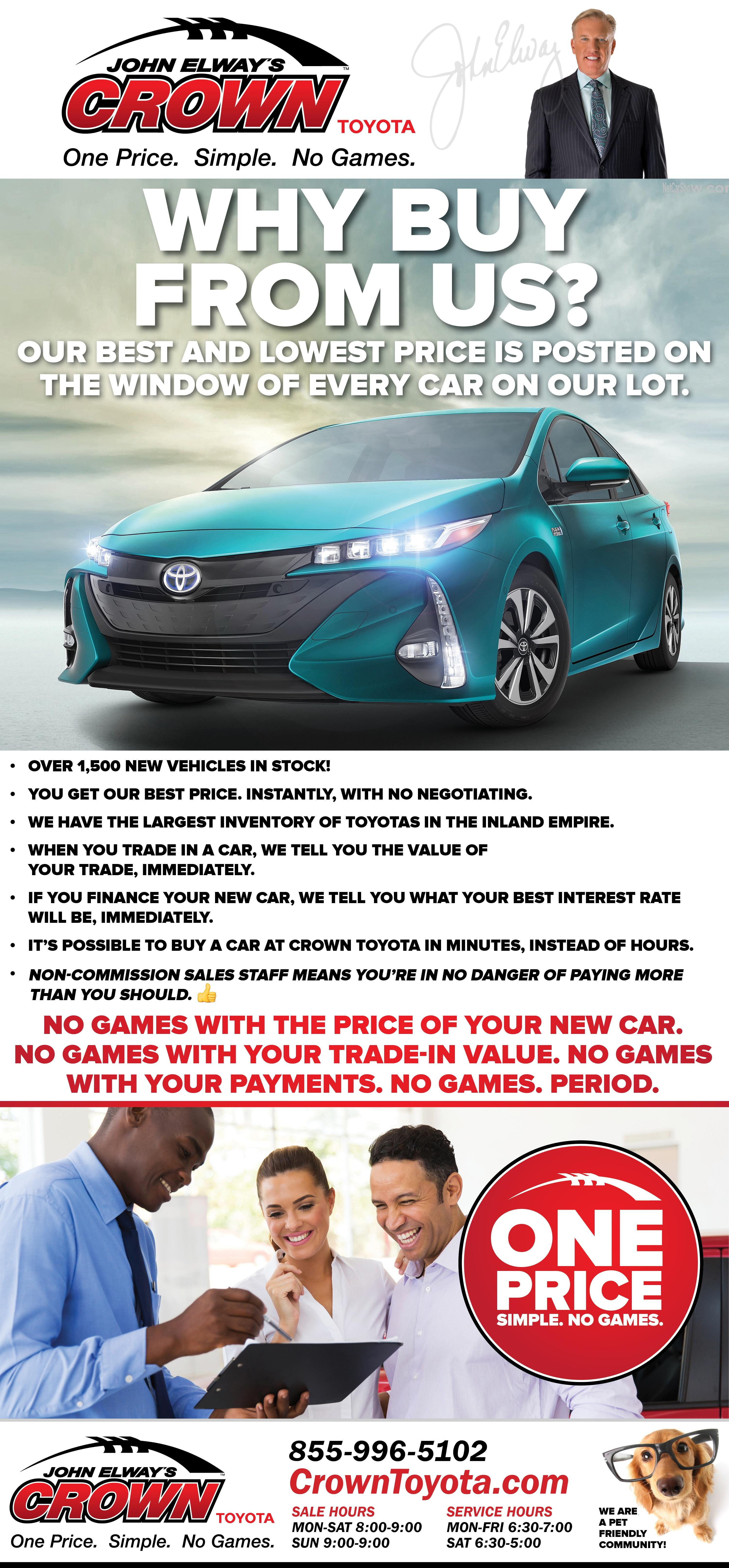 John Elway S Crown Toyota New Dealership In Ontario Ca