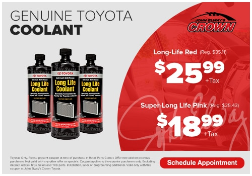 John Elways Crown Toyota >> Toyota Parts Specials Ontario Ca Toyota Parts Coupons Ontario Ca