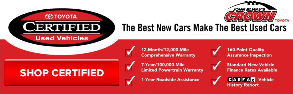 Toyota Certified Program Ontario Ca S John Elway S Crown Toyota