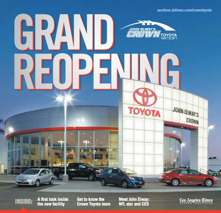 John Elways Crown Toyota >> Welcome To Our Beautiful New Facility John Elway S Crown Toyota