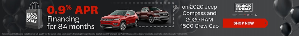 0.9% APR for 84 months on 2020 Jeep Compass & RAM 1500 - Nov