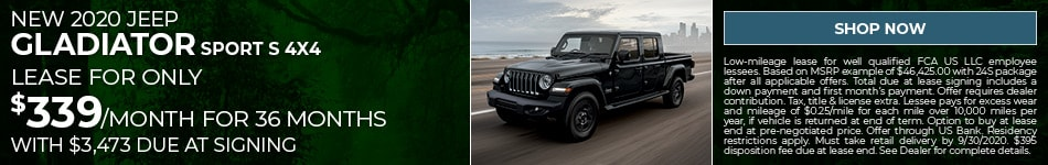 New 2020 Jeep Gladiator Sport S 4x4 - Sept