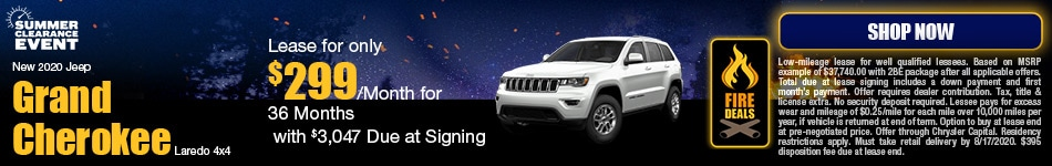 New 2020 Jeep Grand Cherokee Laredo 4x4 - August