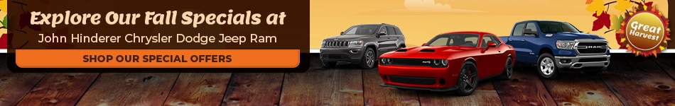 Explore Our Fall Specials at John Hinderer Chrysler Dodge Jeep Ram - Oct