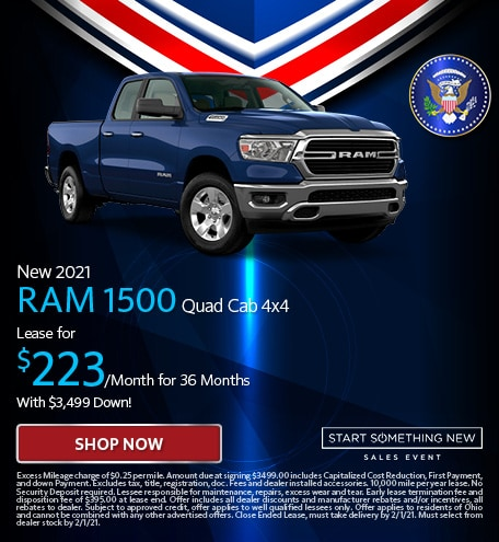 New 2021 RAM 1500 Quad Cab 4x4 - Jan