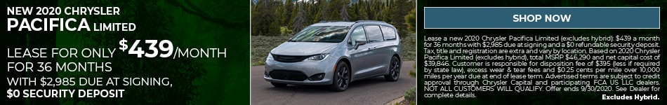New 2020 Chrysler Pacifica Limited - Sept