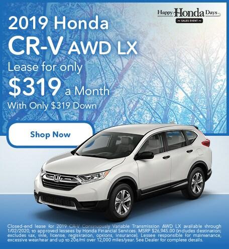 New 2019 Honda CR-V - November