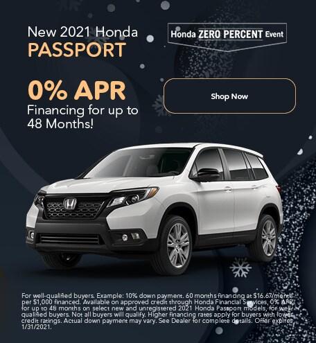 New 2021 Honda Passport - Jan