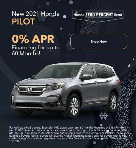 New 2021 Honda Pilot - Jan