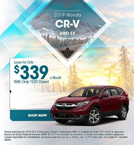 New 2019 Honda CR-V - January