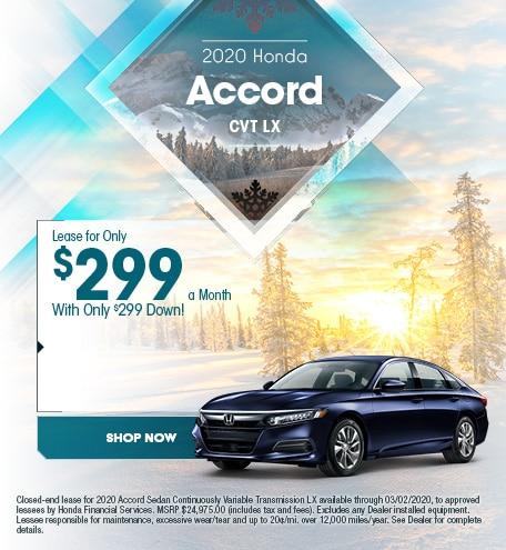 new 2020 Honda Accord - January