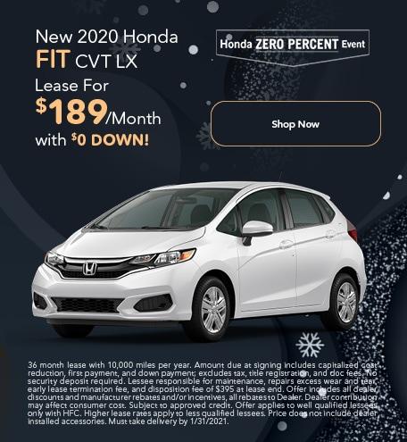 New 2020 Honda Fit CVT LX - Jan