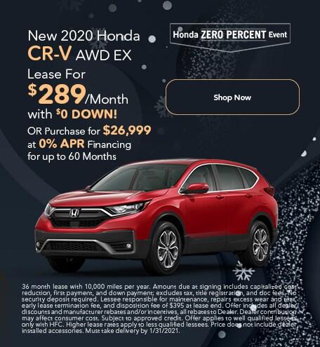 New 2020 Honda CR-V AWD EX - Jan