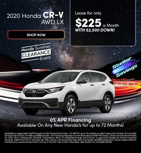 2020 Honda CR-V AWD LX - August