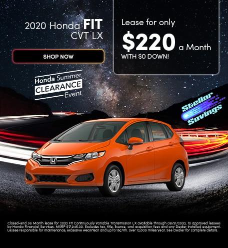 2020 Honda Fit CVT LX - August