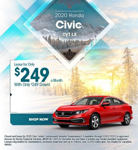 2020 Honda Civic CVT LX - Jan