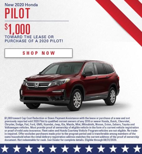 New 2020 Honda Pilot - July
