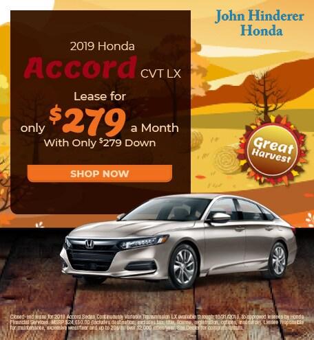 New 2019 Honda Accord - Oct '19