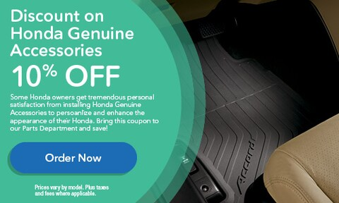 Discount on Honda Genuine Accessories