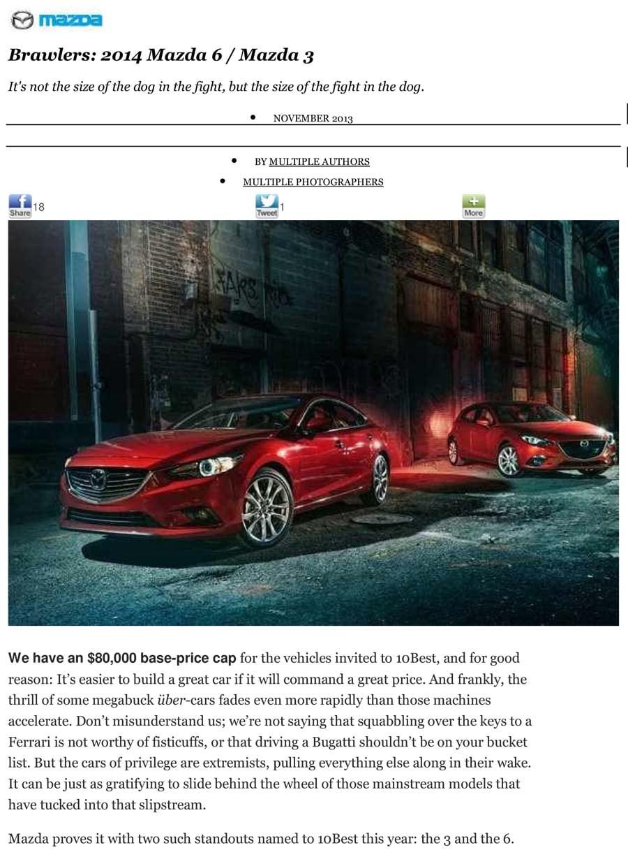 Car And Driver 10 Best John Hine Mazda San Diego