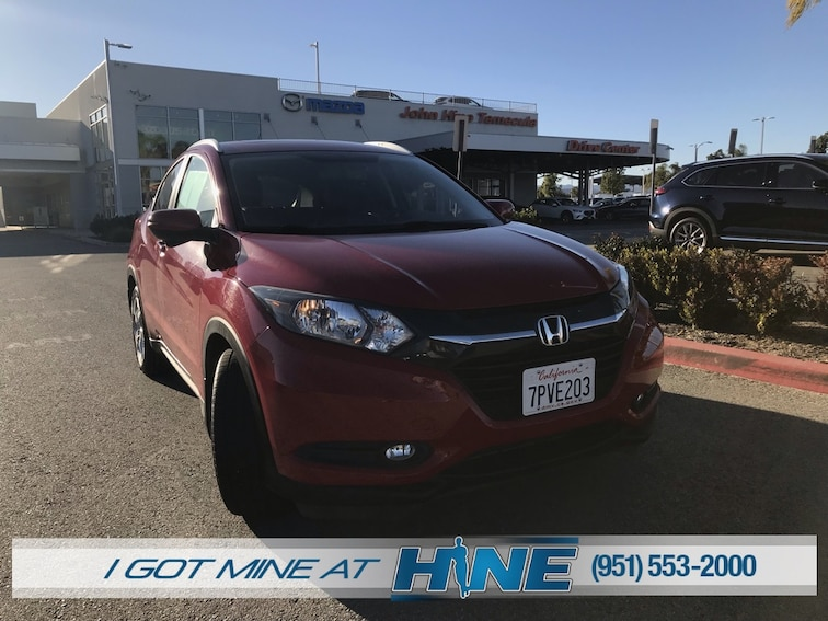 Used 2016 Honda HR-V EX-L w/Navigation FWD SUV for sale in Temecula, CA