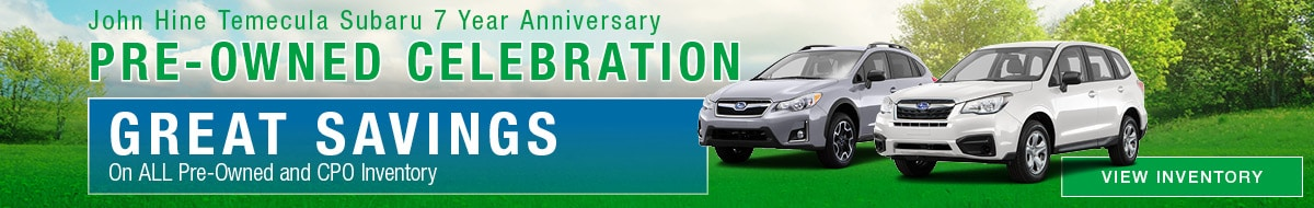 7 Year Anniversary Pre-Owned Celebration