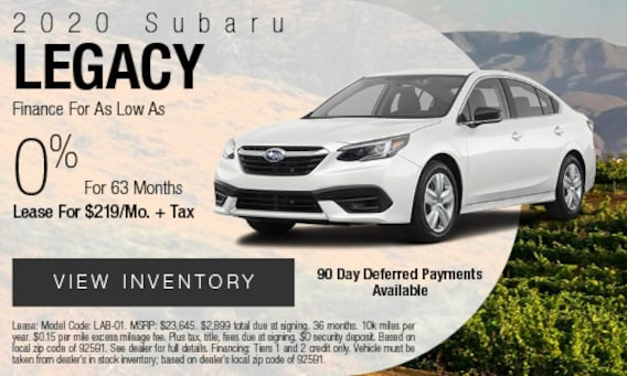 New Lease Finance Specials John Hine Temecula Subaru