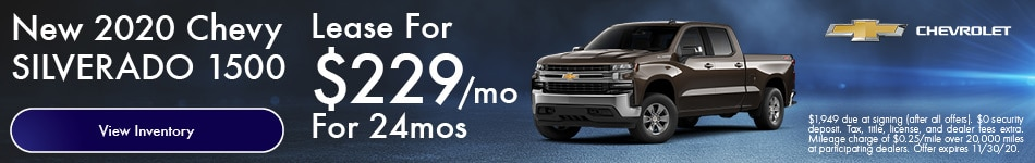 New 2020 Chevy Silverado 1500