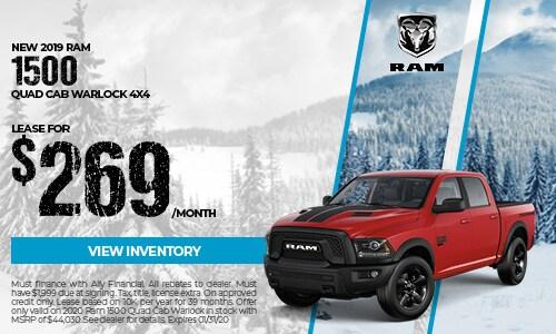 New 2019 Ram 1500 Quad Cab Warlock 4x4