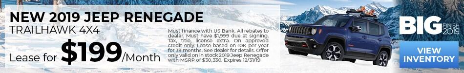 NEW 2019 JEEP Renegade TrailHawk 4X4
