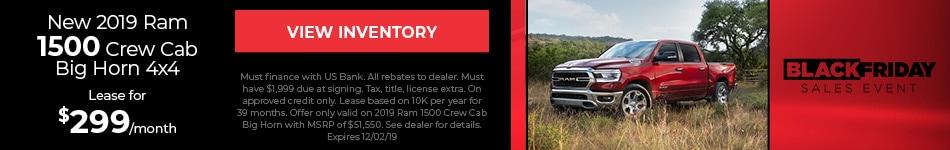 2019 Ram 1500 Lease