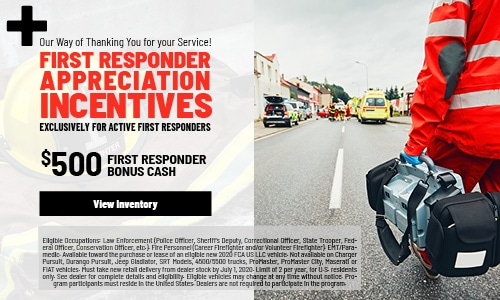 January 2020 First Responder Appreciation Incentives