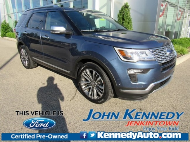 Certified Pre-Owned 2018 Ford Explorer Platinum SUV in Jenkintown