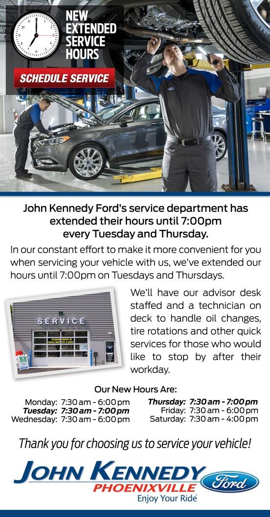 John Kennedy Ford >> Phoenixville Ford Car Repair John Kennedy Ford Ford Service