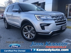 Certified 2018 Ford Explorer Limited SUV AWD Phoenixville