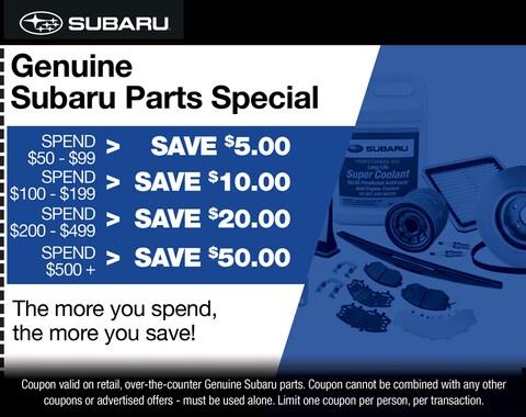 Genuine Subaru Parts Special