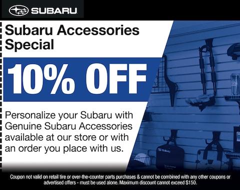 Subaru Accessories Special
