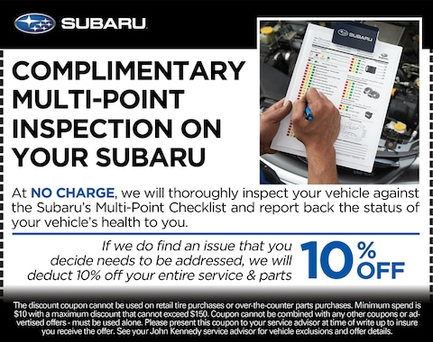 COMPLIMENTARY MULTI-POINT INSPECTION ON YOUR SUBARU
